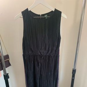 Black Jumpsuit with Rainbow Stripes on Sides